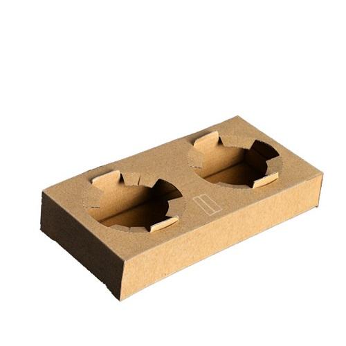 Suport pahare carton cu 2 locuri